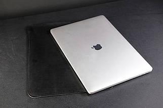 Чохол для MacBook Шкіра Італійський краст колір Чорний, фото 3