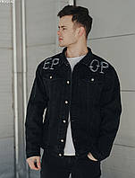 Мужская джинсовая куртка Staff black piece , Цвет: Черный