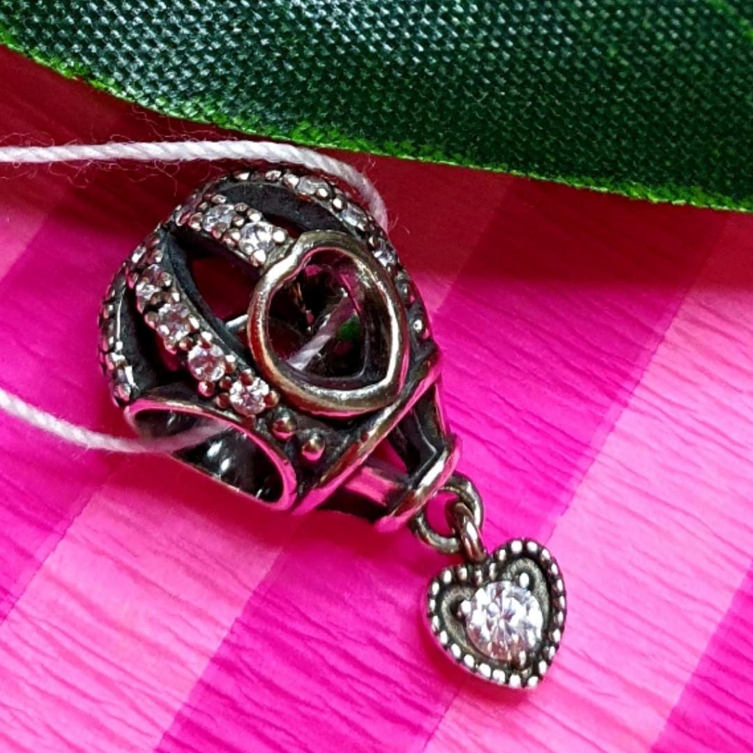 Шарм Воздушный Шар Пандора серебро - Серебряный шарм Подарок Водухоплавателю