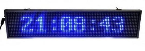 Рекламная бегущая строка 100 х 20 см внутренняя с синими диодами