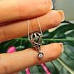 Шарм Воздушный Шар Пандора серебро - Серебряный шарм Подарок Водухоплавателю, фото 3