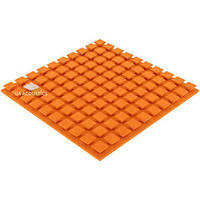 Акустический поролон «Плитка XL» 50 мм (Оранжевый) | 1*1 м.