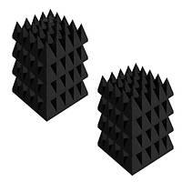Акустические панели «Пирамида 100» 25*25 см. Комплект — 8 шт. Черный графит