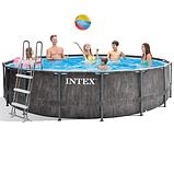 Каркасный бассейн Intex 26742, (457 x 122 см) (Картриджный фильтр-насос 3 785 л/ч, лестница, тент, подстилка), фото 2