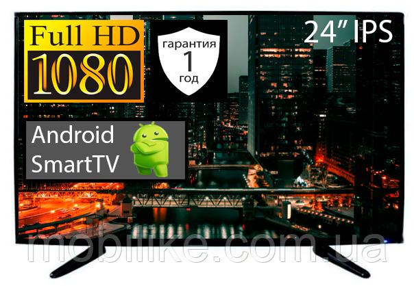 "Телевізор LED TV 24"" FullHD SmartTV Android 4.4 DVB -T2"