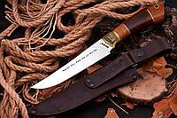 Нож охотничий ручной работы GW, с кожаным чехлом в комплекте, отличный подарок мужчине
