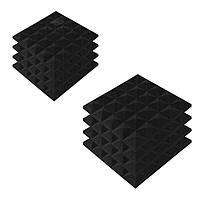 Акустические панели «Пирамида 30» 25*25 см. Комплект — 8 шт. Черный графит