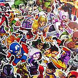 """25шт. Добірка """"Неонові"""" наклейки, стікери на ноутбук, скутер , скейт, шолом (817146), фото 6"""