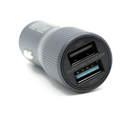 Автомобильное зарядное устройство Remax Retour RCC221 QC3.0 2*USB 2.4A 30W (Grey)
