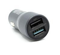 Автомобильное зарядное устройство Remax Retour RCC221 QC3.0 2*USB 2.4A 30W (Grey), фото 1