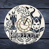 Тематические настенные часы из дерева «Малефисента», фото 1