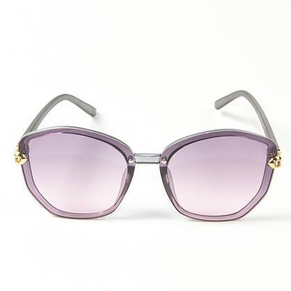 Оптом женские солнцезащитные полупрозрачные очки (арт. 2347/3) фиолетовые, фото 2