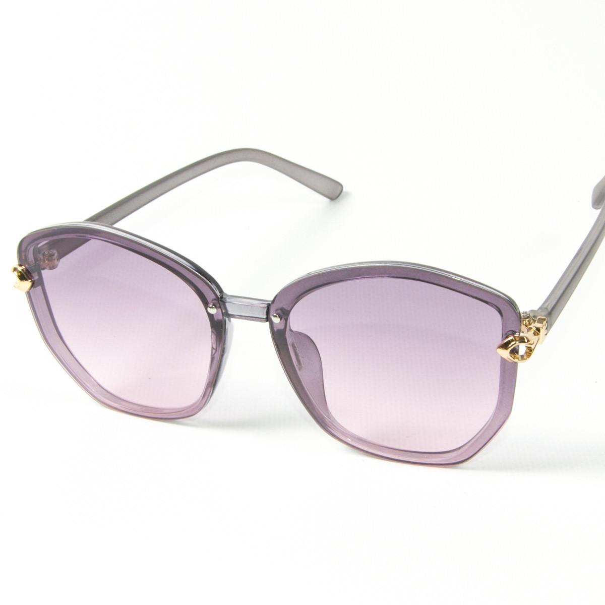 Оптом женские солнцезащитные полупрозрачные очки (арт. 2347/3) фиолетовые