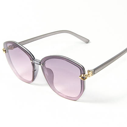 Оптом женские солнцезащитные полупрозрачные очки (арт. 2347/3) фиолетовые, фото 3