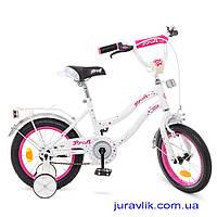 Детский двухколесный велосипед 16 дюймов Profi Y1694 Белый велосипед для девочки