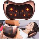 Массажная подушка | Массажер подголовник Massage pillow (Реплика), фото 4