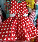 Нарядное платье в горошек Ретро для девочки на 4-6 лет, фото 2