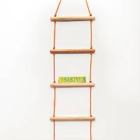 Лестница детская, подвесная, деревянная «ЭКОНОМ. БОГАТЫРЬ»