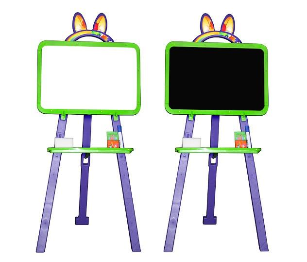 Мольберт для рисования  зелено-фиолетовый Doloni