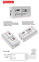 Контроллер Светодиодный RGB 18А-2.4G-Touch 216 вт 2.4G - пульт д/у DC 12 в, фото 4