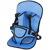 Детское бескаркасное голубое автокресло Multi-function car cushion