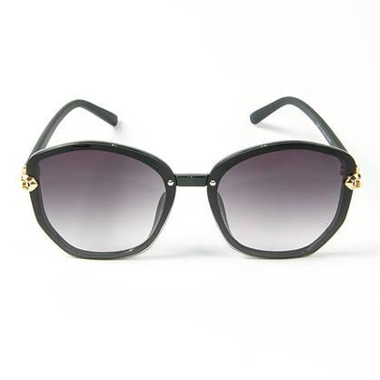 Оптом женские солнцезащитные  очки (арт. 2347/6) черные, фото 3