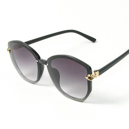 Оптом женские солнцезащитные  очки (арт. 2347/6) черные, фото 2