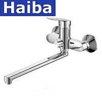 Смеситель для ванны длинный нос HAIBA NIKAS EURO (CHR-006)