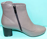 Ботинки женские кожаные демисезонные на каблуке от производителя модель КС13Б, фото 3
