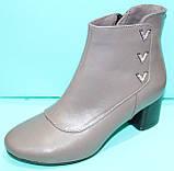 Ботинки женские кожаные демисезонные на каблуке от производителя модель КС13Б, фото 2