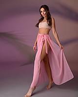 Пляжная юбка, цвет - пудра.