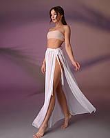 Пляжная юбка, цвет - молочно-белый.