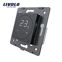 Модуль терморегулятор сенсорный Livolo для водяных систем отопления черный (VL-C7-01TM-12)