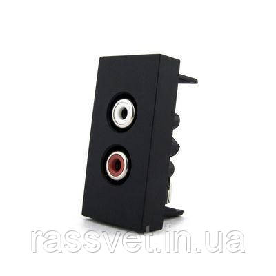 Механизм розетки RCA аудио Livolo, цвет черный (VL-C7-1AD-12)