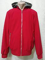 Мужская красная куртка ветровка бомбер весна со съемным капюшоном Nature