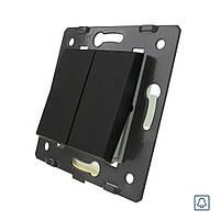 Клавішна кнопка Livolo 2 лінії колір чорний (VL-C7-K2H-12)