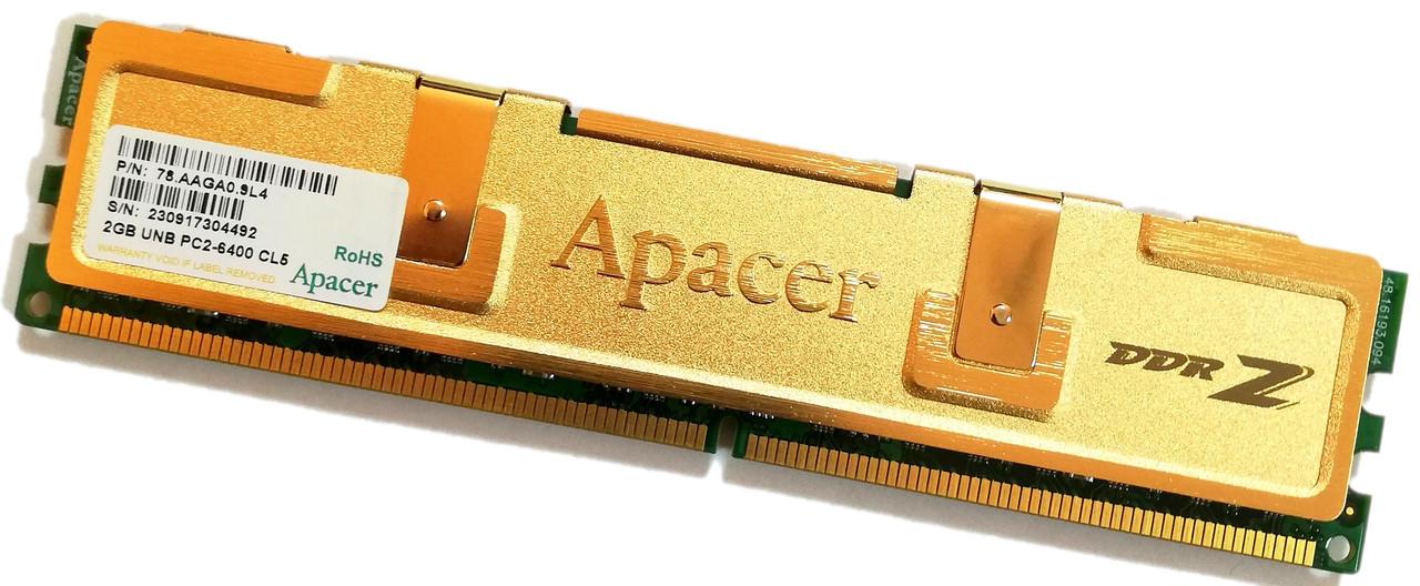 Игровая оперативная память Apacer DDR2 2Gb 800MHz PC2 6400U CL5 2R8 (78.AAGA0.9L4) Б/У