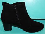 Ботинки женские велюровые демисезонные на каблуке от производителя модель КС143, фото 3