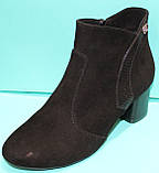 Ботинки женские велюровые демисезонные на каблуке от производителя модель КС143, фото 2
