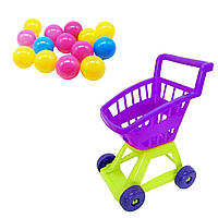 Тележка с шариками фиолетовая