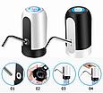 Бездротова помпа для води на бутель (акумулятор, LED підсвічування), фото 5