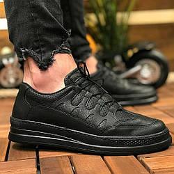 Мужские черные кроссовки Checich