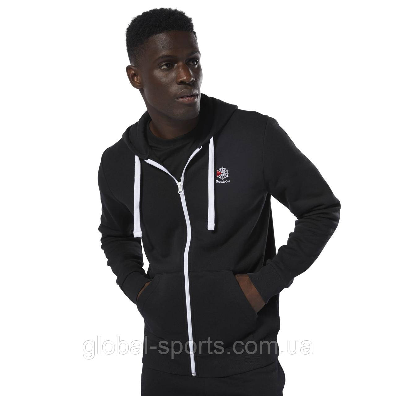 Мужская толстовка Reebok Classics Fleece Full-Zip (Артикул: DT8137)