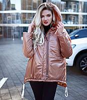 Лаковая демисезонная курточка