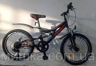 """Велосипед горный Crosser Smart-1 20"""" черно-красный"""