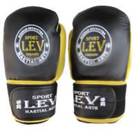 Перчатки боксерские Стрейч Лев КЛАСС черные