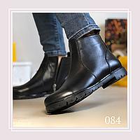 Женские демисезонные ботинки натуральная черная кожа, фото 1