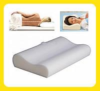 Ортопедическая подушка анатомическая для комфортного и здорового сна с эффектом памяти 50 x 29
