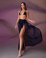 Пляжная юбка, цвет - темно-синий.
