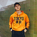 Худи оранжевое мужское Токио, фото 2